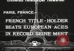 Image of swimmer Jean Taris Paris France, 1934, second 12 stock footage video 65675061014