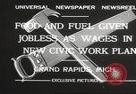Image of Unemployment aid plan by George W Welsh Grand Rapids Michigan USA, 1932, second 2 stock footage video 65675061017