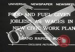 Image of Unemployment aid plan by George W Welsh Grand Rapids Michigan USA, 1932, second 3 stock footage video 65675061017