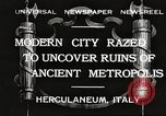 Image of workers Herculaneum Italy, 1932, second 1 stock footage video 65675061020