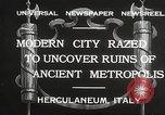Image of workers Herculaneum Italy, 1932, second 4 stock footage video 65675061020