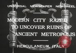 Image of workers Herculaneum Italy, 1932, second 10 stock footage video 65675061020