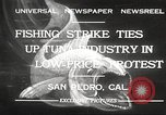 Image of fishermen San Pedro California USA, 1932, second 1 stock footage video 65675061021