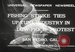 Image of fishermen San Pedro California USA, 1932, second 2 stock footage video 65675061021