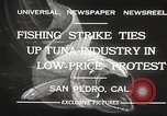 Image of fishermen San Pedro California USA, 1932, second 4 stock footage video 65675061021