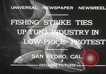 Image of fishermen San Pedro California USA, 1932, second 6 stock footage video 65675061021