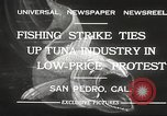 Image of fishermen San Pedro California USA, 1932, second 7 stock footage video 65675061021