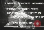 Image of fishermen San Pedro California USA, 1932, second 10 stock footage video 65675061021