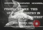 Image of fishermen San Pedro California USA, 1932, second 12 stock footage video 65675061021