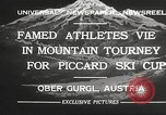 Image of skiing Obergurgl Austria, 1932, second 8 stock footage video 65675061022