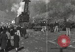 Image of wrecked locomotive Powellton West Virginia USA, 1934, second 10 stock footage video 65675061025