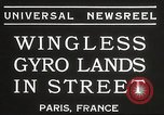 Image of wingless gyro airplane Paris France, 1934, second 4 stock footage video 65675061026