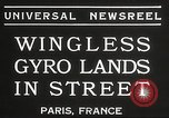 Image of wingless gyro airplane Paris France, 1934, second 5 stock footage video 65675061026