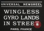 Image of wingless gyro airplane Paris France, 1934, second 7 stock footage video 65675061026