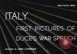 Image of Benito Mussolini Rome Italy, 1940, second 1 stock footage video 65675061114