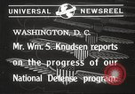 Image of William Knudsen Washington DC USA, 1940, second 2 stock footage video 65675061121