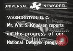 Image of William Knudsen Washington DC USA, 1940, second 3 stock footage video 65675061121