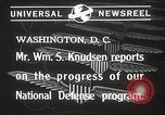 Image of William Knudsen Washington DC USA, 1940, second 5 stock footage video 65675061121