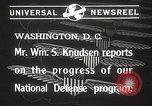 Image of William Knudsen Washington DC USA, 1940, second 6 stock footage video 65675061121