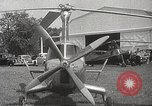 Image of autogyro rotorcraft Willow Grove Pennsylvania USA, 1940, second 11 stock footage video 65675061123