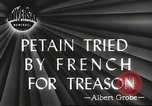 Image of Philippe Petain Paris France, 1945, second 1 stock footage video 65675061128