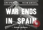 Image of Francisco Franco in Madrid. Dolores Ibárruri in France Madrid Spain, 1939, second 6 stock footage video 65675061134
