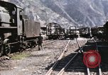 Image of damaged locomotives Sicily Italy, 1943, second 12 stock footage video 65675061152