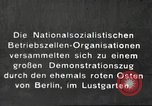 Image of National Socialist Factory Cell Organization gathering in Berlin Berlin Germany, 1933, second 1 stock footage video 65675061179