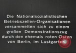 Image of National Socialist Factory Cell Organization gathering in Berlin Berlin Germany, 1933, second 2 stock footage video 65675061179