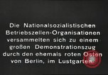 Image of National Socialist Factory Cell Organization gathering in Berlin Berlin Germany, 1933, second 3 stock footage video 65675061179