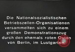 Image of National Socialist Factory Cell Organization gathering in Berlin Berlin Germany, 1933, second 4 stock footage video 65675061179