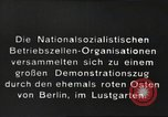 Image of National Socialist Factory Cell Organization gathering in Berlin Berlin Germany, 1933, second 5 stock footage video 65675061179