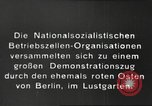 Image of National Socialist Factory Cell Organization gathering in Berlin Berlin Germany, 1933, second 6 stock footage video 65675061179