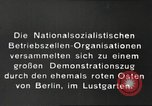 Image of National Socialist Factory Cell Organization gathering in Berlin Berlin Germany, 1933, second 7 stock footage video 65675061179