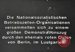 Image of National Socialist Factory Cell Organization gathering in Berlin Berlin Germany, 1933, second 8 stock footage video 65675061179