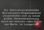 Image of National Socialist Factory Cell Organization gathering in Berlin Berlin Germany, 1933, second 10 stock footage video 65675061179
