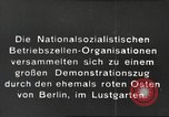 Image of National Socialist Factory Cell Organization gathering in Berlin Berlin Germany, 1933, second 11 stock footage video 65675061179