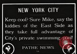 Image of home-made pool New York United States USA, 1922, second 1 stock footage video 65675061269