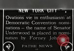 Image of Senator Oscar Underwood New York United States USA, 1924, second 1 stock footage video 65675061270