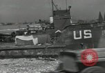 Image of Allied landing craft Normandy France, 1944, second 9 stock footage video 65675061285