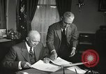 Image of President Dwight Eisenhower Washington DC USA, 1957, second 7 stock footage video 65675061330