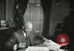 Image of President Dwight Eisenhower Washington DC USA, 1957, second 10 stock footage video 65675061330