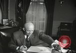 Image of President Dwight Eisenhower Washington DC USA, 1957, second 11 stock footage video 65675061330