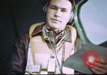 Image of B-17 crewman on interphone United Kingdom, 1943, second 5 stock footage video 65675061388