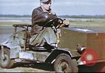 Image of Improvised vehicle at U.S. Air Base in UK United Kingdom, 1943, second 8 stock footage video 65675061398
