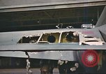 Image of flak damaged B-17 England, 1943, second 11 stock footage video 65675061407