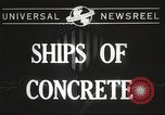 Image of concrete ship Georgia United States USA, 1944, second 2 stock footage video 65675061495