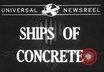 Image of concrete ship Georgia United States USA, 1944, second 4 stock footage video 65675061495