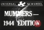 Image of Mummers Parade Philadelphia Pennsylvania USA, 1944, second 1 stock footage video 65675061497