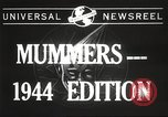 Image of Mummers Parade Philadelphia Pennsylvania USA, 1944, second 2 stock footage video 65675061497